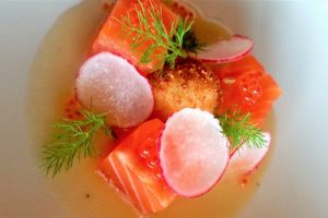 Cured Salmon Chardonnay vinaigrette