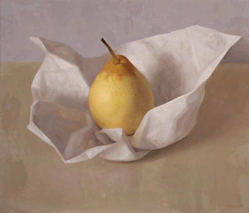 asian pear and paper
