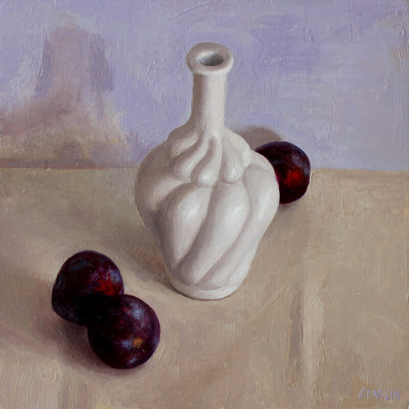 bottle and plums